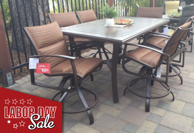 Beautiful Labor Day Sale Patio Furniture Tropitone Mainsail PS Counter Set