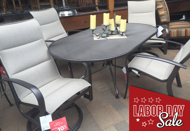 labor day sale patio furniture woodard fremont padded sling - Outdoor Furniture Sale