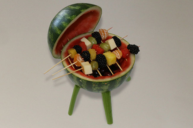 Watermelon Grill With Kebabs